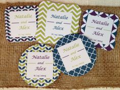Set of 50 Sparkler Tags Peacock Collection by PerfectlyMatched, $37.50