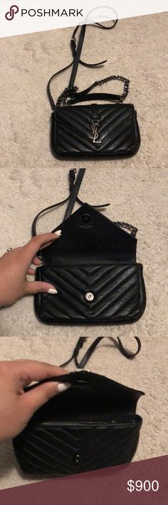 01f85cb2420c Saint Laurent Matelasse Small size purse mini YSL cross body purse