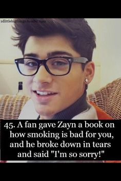 Awe! His New Years resolution was to quit, GOOD LUCK, ZAYN!