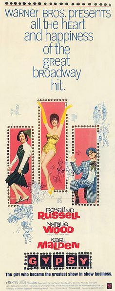 Gypsy (1962) starring Rosalind Russell, Natalie Wood & Karl Malden