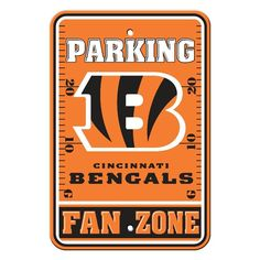 Cincinnati Bengals Plastic Parking Sign