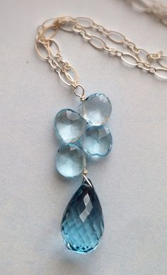 Faceted London Blue And Swiss Blue Topaz