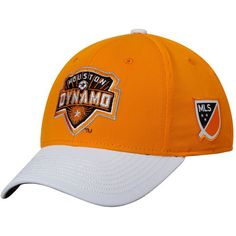 90419100e20 Men s Houston Dynamo adidas Orange White Authentic Team Structured Flex Hat