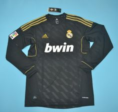 39979c2542b Real Madrid 2012 Away Long Sleeve Retro Men Soccer Jersey Personalized Name  and Number