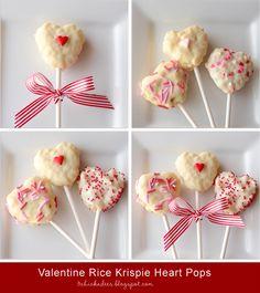 Valentine Heart Rice Krispie Pops