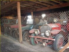 Just a few of the many antique vehicles gathering dust in the old Shaniko Livery…