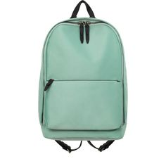 3.1 Phillip Lim Name Drop Backpack In Mint (43.760 RUB) ❤ liked on Polyvore featuring bags, backpacks, accessories, green, mint backpacks, rucksack bags, zip top bag, mint green bag and green backpack