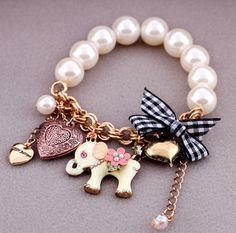 bracelet girls pearl - Buscar con Google