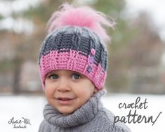 Winter hat crochet INSTRUCTIONS in PDF form, UNI motif, suitable for children, men and women .. Very detailed instructions complete with photos, step by step, chart drawing .. Calculated size from 36 to 63 cm ..