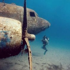 Cool scuba diving wreck photo from a PADI fan on Instagram