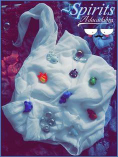 Lava Spirit Charm - Kawaii Handmade Polymer Clay. €4.00, via Etsy.