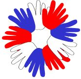 USA Handprint Wreath Craft for Kids   2yrs+  Fourth of July  