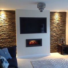 tv wall ideas, tv wall ideas with fireplace, tv wall ideas design, tv wall decor. Fireplace Tv Wall, Fireplace Design, Fireplace Ideas, Fireplace Feature Wall, Wall Mount Electric Fireplace, Fireplace Stone, Fake Fireplace, Modern Fireplace, Fireplaces