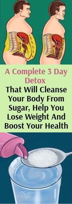 A complete 3 Day Detox– That Will Cleanse Your Body From Sugar, Help You Lose Weight & Boost Your Health!!!!