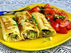 Vegetarian Recipes, Cooking Recipes, Good Food, Yummy Food, Crepe Cake, Party Food And Drinks, Mediterranean Diet Recipes, Polish Recipes, Healthy Eating