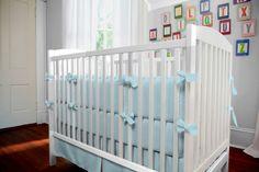 Solid Mist Baby Crib Bedding #carouseldesigns