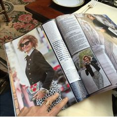 Casual reading of Hola! Magazine in Florence. Spotted Icon Naty Bascal wearing the Mini Giovanna Positano from the  YY Spring/Summer 2016 Collection to the Paris Fashion Week | #YYMiniGiovanna #YYRiviera  #YYCelebritiea #PFW