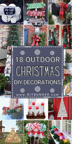 DIY Christmas Decorations for Outside | Looking for the perfect Christmas DIY home decor ideas for your front yard? These outdoor decor ideas will bring your home to life and put a smile on your neighbors' faces! #christmas #xmas #decor #homedecor #christmasdiy #christmasdecor