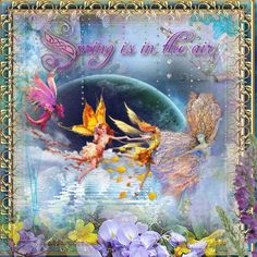 Spring is in the Air ...Fairy Blingee by stina scott