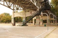 court under bridge Basketball Park, Under Bridge, Mood, Mansions, House Styles, Store, Interior, Beautiful, Manor Houses