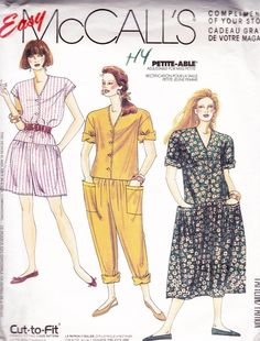 Petite-Able Jumpsuits and Dress - Easy McCalls 0022 Miss 10-20 – SewJewel