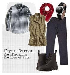 """""""Flynn Carsen"""" by shaylinka on Polyvore featuring J.Crew, Moschino, Lucky Brand and Dr. Martens"""