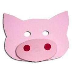 Bricolage facile d'un masque de cochon, pour se faire une tête de cochon pour le carnaval, un spectacle d'enfant ou pour se déguiser, tout simplement .