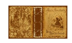 Printable 1/12 scale miniature Alice in Wonderland antique book cover that I created in photoshop