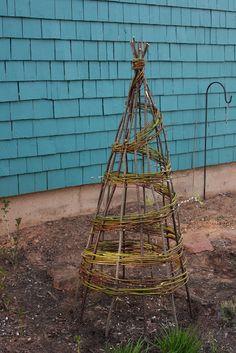 All-natural veggie cage/trellis.