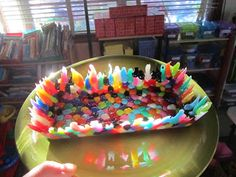 CAUTION! Twins at play!: melty bead basket (updated)