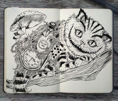 #130 Cheshire Cat by 365-DaysOfDoodles.deviantart.com on @deviantART