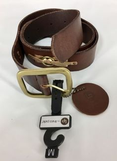 37.95$  Watch now - http://vigeb.justgood.pw/vig/item.php?t=psv7fnq4423 - Linea Pelle Brown Leather Anthropology Fashion Belt Womens Size Medium NWT
