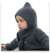 patron tricot gratuit cagoule