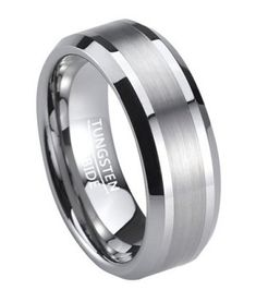 Modern Design Has Never Looked So Good This Men S Tungsten Wedding Band Offers A Satin