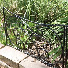 Crossing Scrolls Garden Edging Black Steel Panel, 18.25in X 16.5in |  Gardeners Edge
