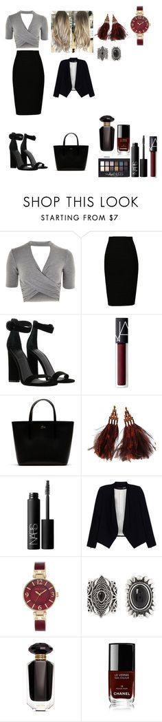 """""""Grey"""" by alexandra-ac on Polyvore featuring moda, Topshop, Kendall + Kylie, NARS Cosmetics, Lacoste, Louis Vuitton, Alice + Olivia, Anne Klein, New Look ve Maybelline"""