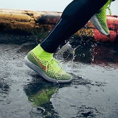 The new Nike LunarEpic Flyknit Shield; your all-weather, water-repellent running shoe- #OnApe