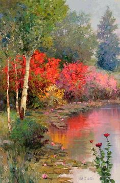 Kent R. Wallis (American, b. Galleries in Carmel California- Jones & Terwilliger Watercolor Landscape, Landscape Art, Landscape Paintings, Watercolor Paintings, Watercolors, Paintings I Love, Beautiful Paintings, Pictures To Paint, Art Pictures