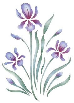 Quickly and easily create a beautiful design in your bedroom, livingroom and more with our Royal Iris Painting Stencil!