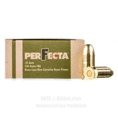 45 ACP - 230 gr FMJ - Fiocchi Perfecta - 1000 Rounds #45ACP #45ACPAmmo #Fiocchi #FiocchiAmmo #Fiocchi45ACP #FMJ #FiocchiPerfecta