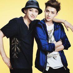 Tao and Sehun for Kolon Sport. Maknae line!