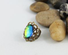 Adjustable Victorian Filigree Ring by Jewelshart on Etsy