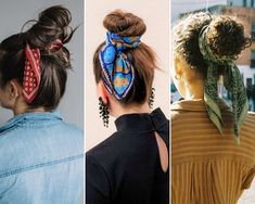 Bandana Hairstyles, Summer Hairstyles, Braided Hairstyles, Fantasy Hair Color, Bad Hair Day, Dream Hair, Facon, About Hair, Bandana Ideas
