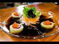 cucumber sushi roll recipe - japanese food recipe amazing sushi roll recipe made with cucumber sheets, a real must see!