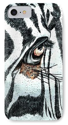 "Amazing Colored Pencil Sketched Art ""Zebra's Eye"" - from the art studio of Scott D Van Osdol available at fineartsamerica.com"