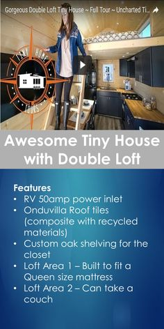Tiny House Tour: Awesome Tiny House with Double Loft   Tiny Quality Homes