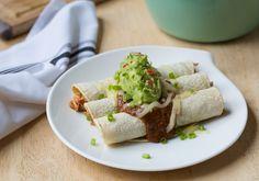 Enchiladas with Mole & Guacamole Recipe