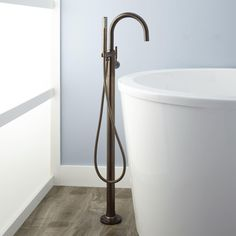 Simoni Freestanding Tub Faucet and Hand Shower