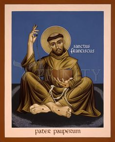 "St. Francis, Father of the Poor | Catholic Christian Religious Art - Icon by Br. Robert Lentz, OFM - From your Trinity Stores crew, ""Here's to Franciscan St. Francis!"""