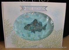 Stamp & Scrap with Frenchie: Gel water card with By the Tide